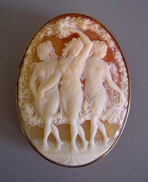 Photograph of &quot;The Three Graces&quot;, a Victorian Cameo