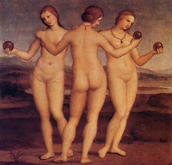 &quot;The Three Graces&quot; by Raphael, 1504