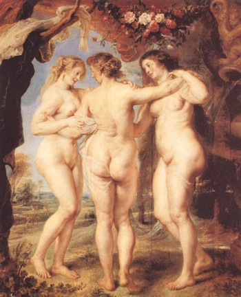 """The Three Graces"" by Peter Paul Rubens, 1639"