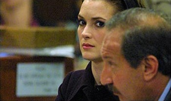 Winona Ryder In Court After Being Found Guilty of Shoplifting