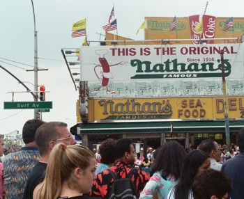 Surf Avenue and Nathan's Hot Dogs
