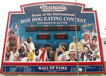 Nathan's Hotdog-Eating Contest Countdown