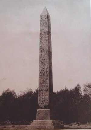 Cleopatra's Needle in Central Park in 1881