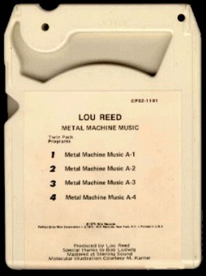 8-Track Tape for Metal Machine Music (back)