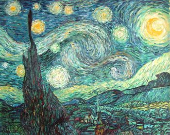 """The Starry Night"" by Vincent Van Gogh, 1889"