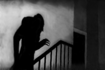 Nosferatu Coming up the Stairs