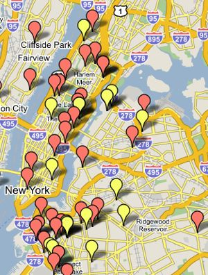 Google Map for New York Housing from CraigsList