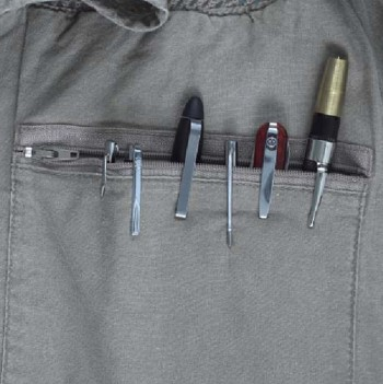 Pen Knives in Shirt Pocket