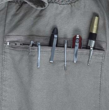 Pen Knives in Shirt Pocket