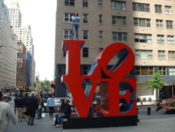 Robert Indiana's LOVE Statue in Manhattan