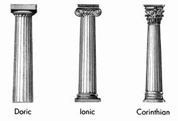 Doric, Ionic, and Corinthian Columns
