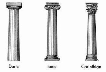 Doric, Ionic, and Corinthian Columns