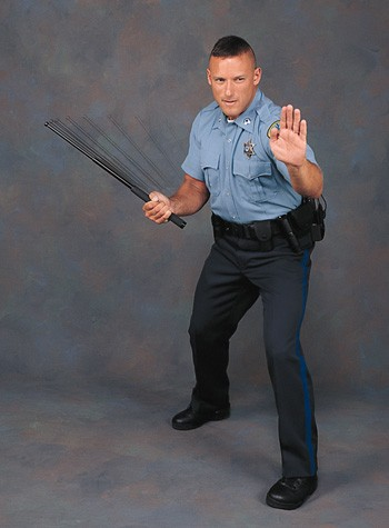 Cop With Baton