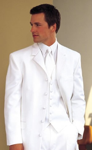 White Dinner Jacket Ensemble