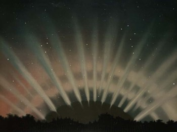 """ Aurora Borealis. As observed March 1, 1872"" by E. L. Trouvelot"