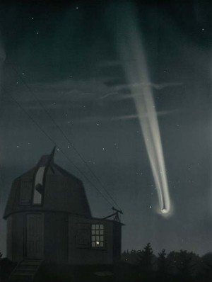 """Great Comet of 1881. Observed on the Night of June 25-26"" by E. L. Trouvelot"