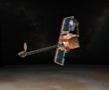 Anaglyph of Mars Orbiter