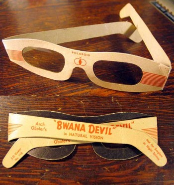 3D glasses used for Bwana Devil