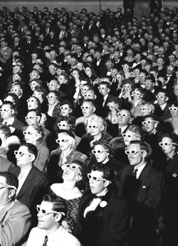 Audience watching Bwana Devil