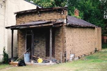 Southeast shotgun house made from brick