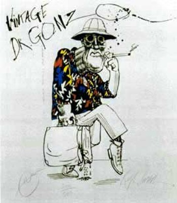 """Dr. Gonzo"" by Ralph Steadman"