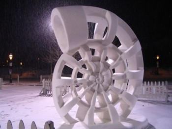 Nautilus Snow Sculpture 2005