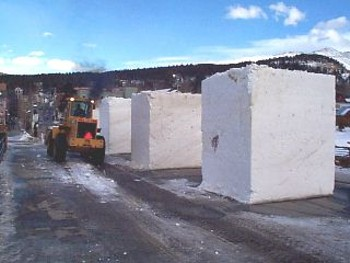 Raw Snow Blocks