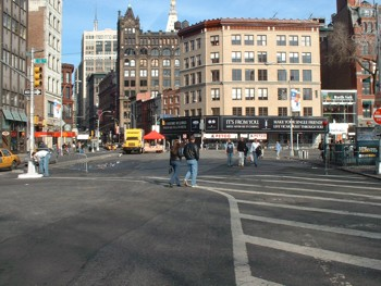 Union Square Facing North