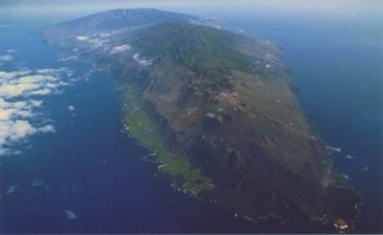 Photograph of volanic island La Palma in the Canary Islands