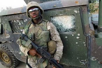 Damaged Humvee in Iraq