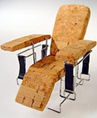 Chair made from a champagne cork by Jan Santos