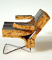 Chair made from a champagne cork by Rick Ebbers