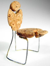 Chair made from a champagne cork by Striblen Fabien