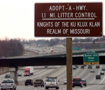 Highway Cleanup Courtesy of the KKK - Sign 2