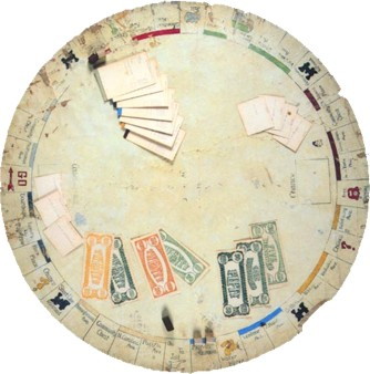 Early Parker Brother's Monopoly board